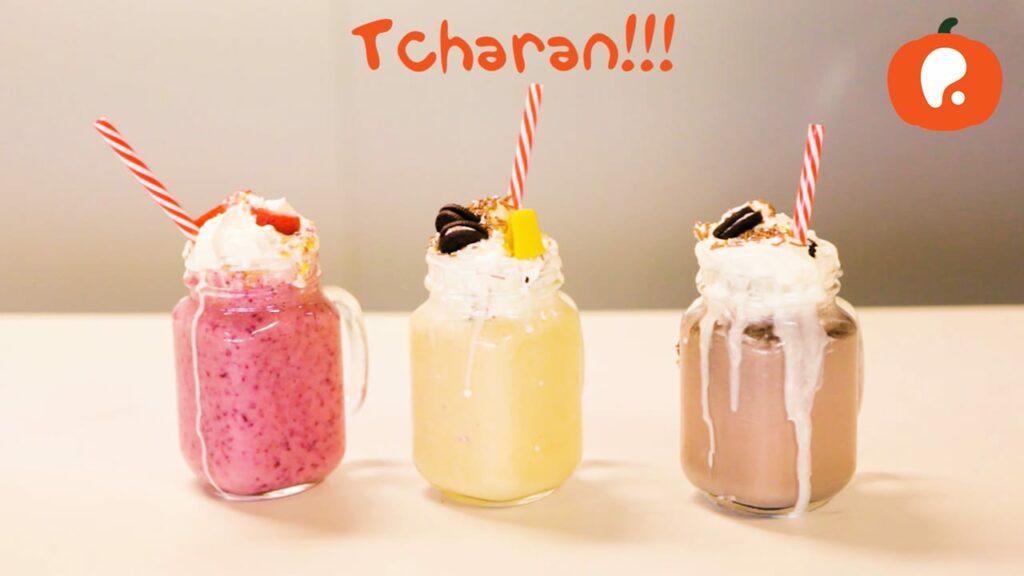 Batidos de leite e fruta ou chocolate pelas Mini-Chefs da Pumpkin