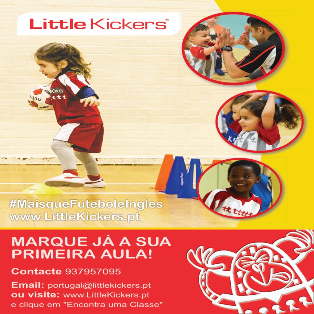 Oferta de Aula Gratuíta –  Little Kickers – 18 meses aos 7 anos – A casa do Futebol Pré -Escolar