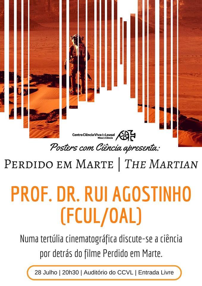 """Posters com Ciência Apresenta: """"Perdido em Marte"""""""