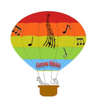  Aventura de música em um balão de ar quente