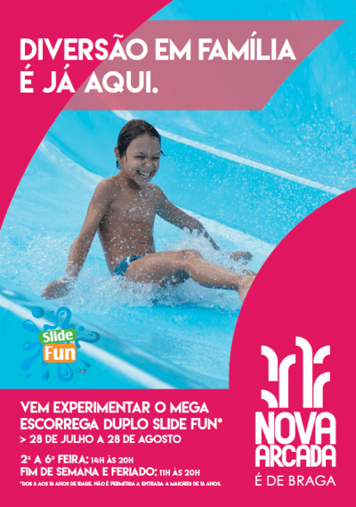 Slide Fun no Nova Arcada