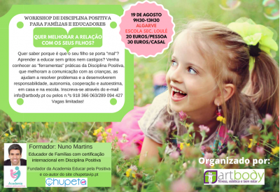 Workshop Disciplina Positiva Algarve 19 agosto