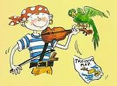 Aventura de música com piratas