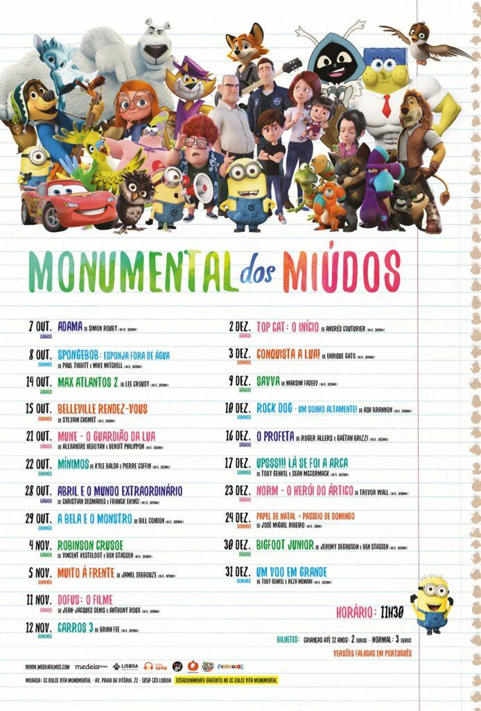 MONUMENTAL DOS MIUDOS - 2ª programação - poster