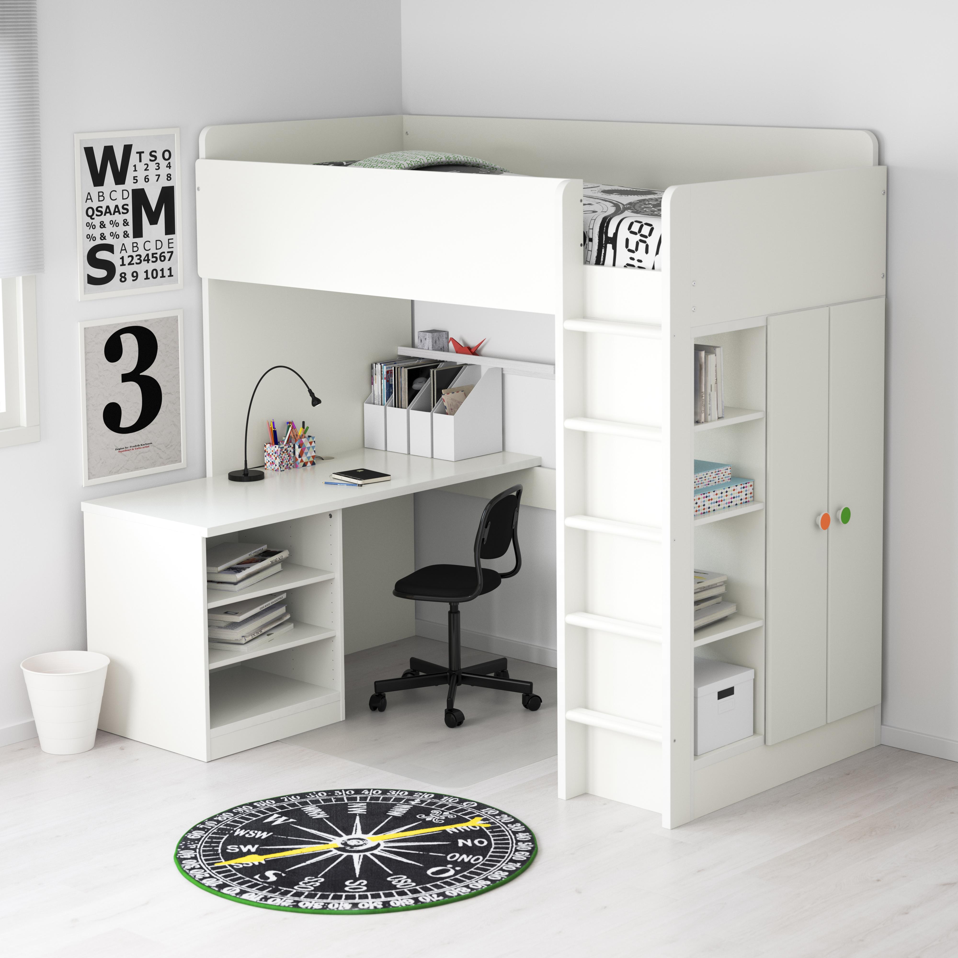 decoração do quarto e espaço de estudo