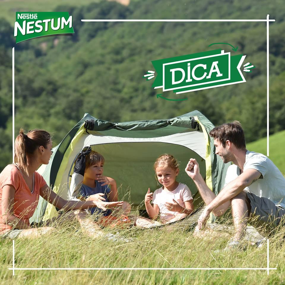 Dica Nestum: acampar em família