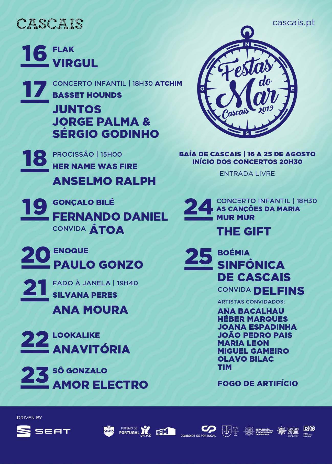 cartaz festas do mar 2019