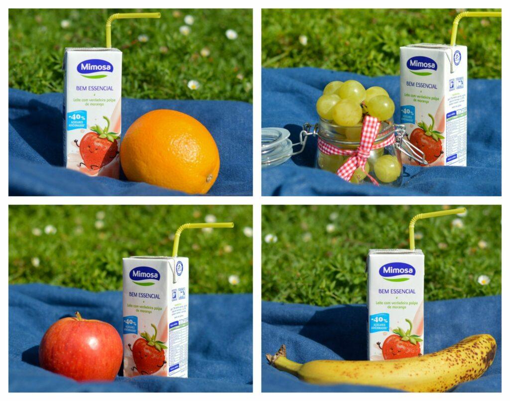 Lanches com fruta variada