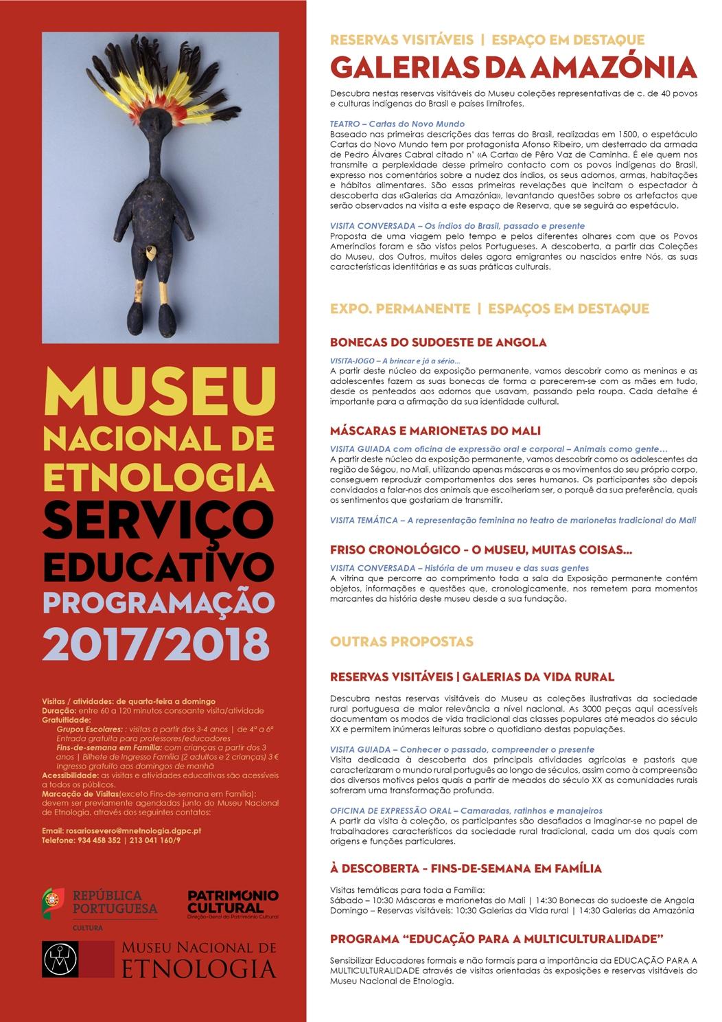 Programa Educativo 2017-2018 | Museu Nacional de Etnologia