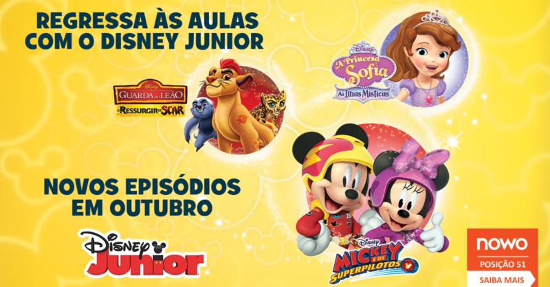 Regresso às aulas Disney Junior: Mickey e os Superpilotos, A Guarda do Leão e A Princesa Sofia estão de volta!
