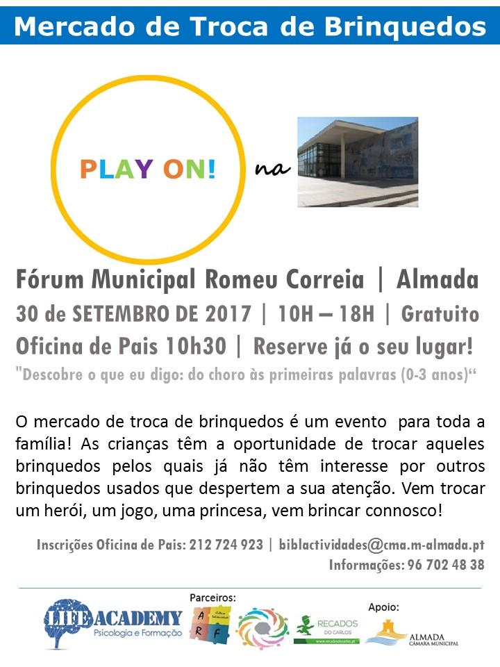 Play On! Mercado de Troca de Brinquedos Usados ALMADA (4ª edição)