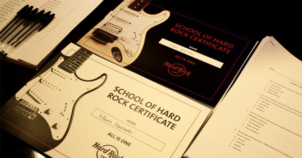 Visita escolar ao Hard Rock Cafe Programa Educativo. O Hard Rock Cafe convida professores