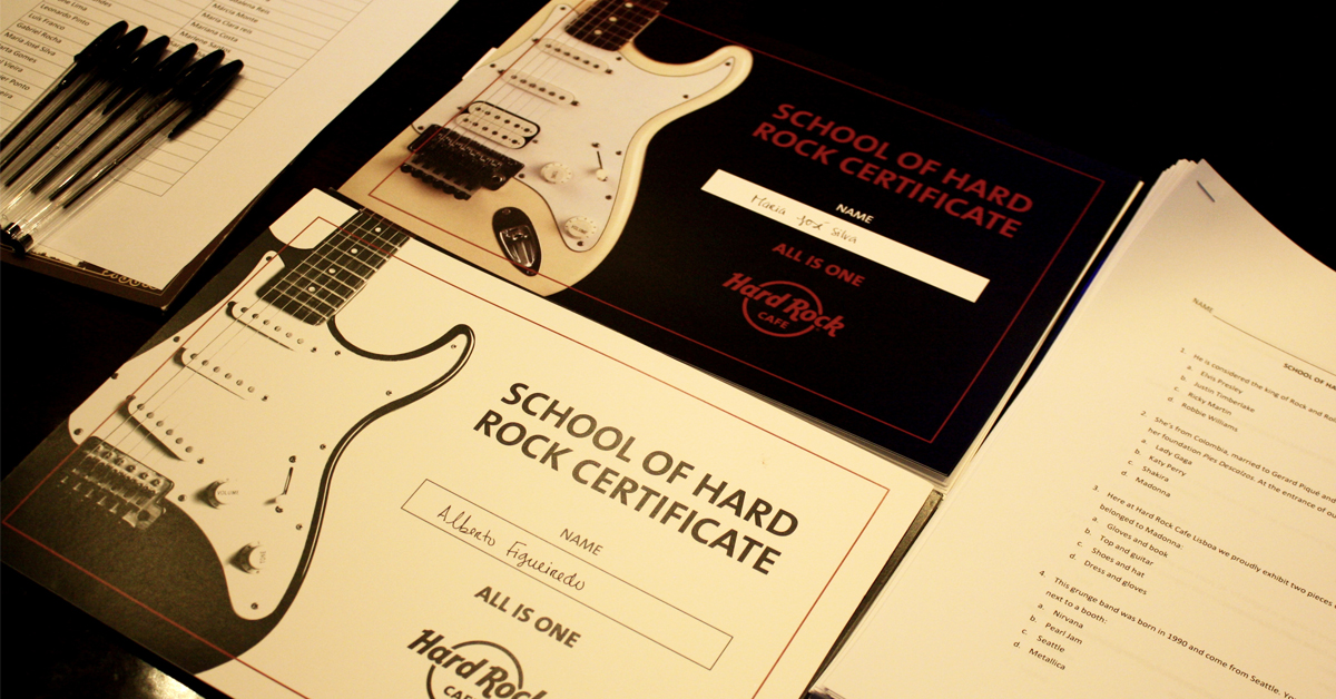 Visita escolar ao Hard Rock Cafe Programa Educativo. O Hard Rock Cafe convida professores