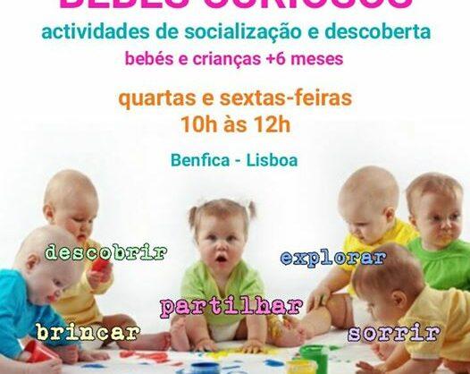 BEBÉS CURIOSOS  – Actividades de Socialização e Descoberta P/ Bebés e Crianças