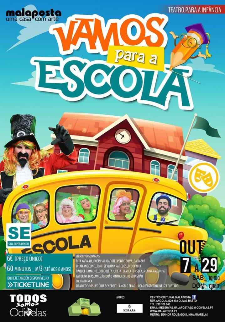 """Teatro Vila Ideal """"Vamos para a Escola!"""" no Malaposta"""