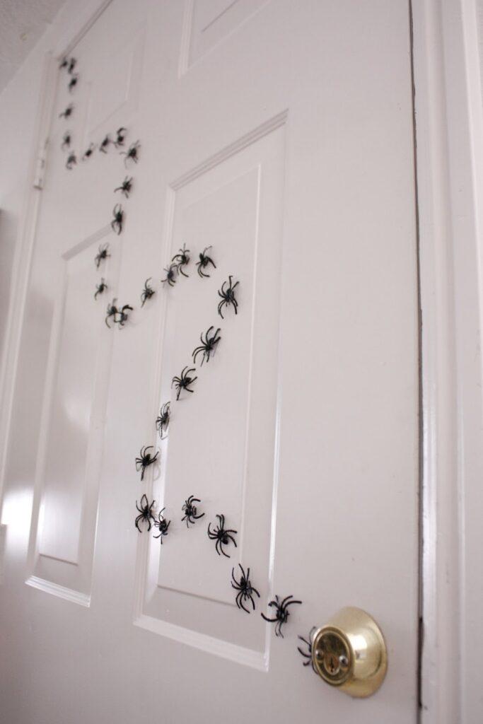Aranhas magneticas decoração halloween
