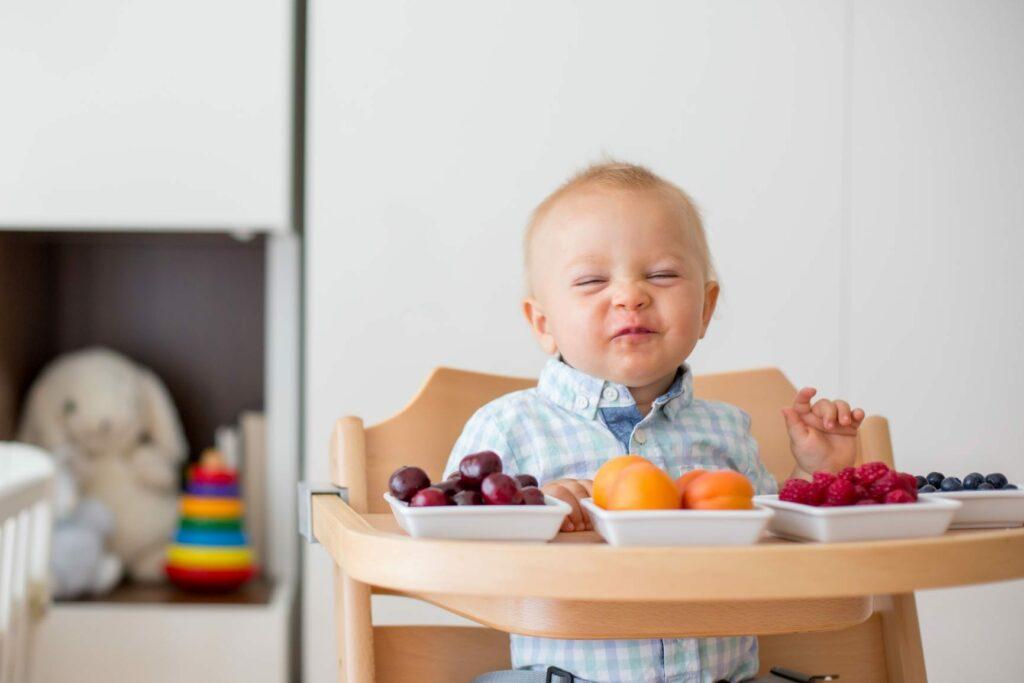 alimentação complementar fruta