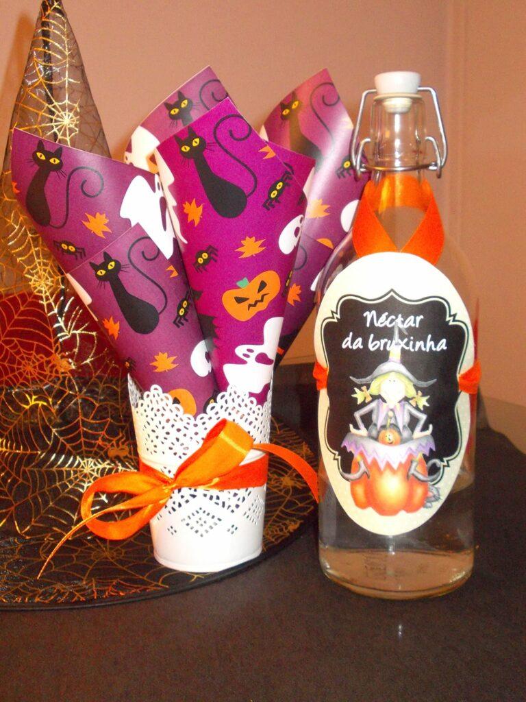 Decoração de Halloween - Pipoca