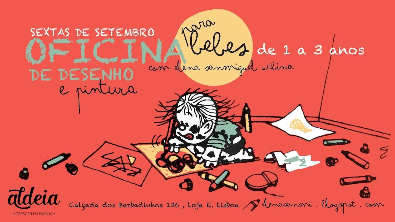 Oficina Semanal de Desenho e Pintura para Bebés