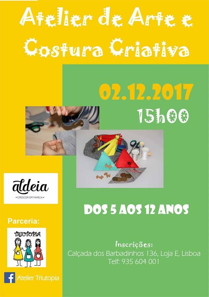 Atelier de Arte e Costura Criativa para Crianças