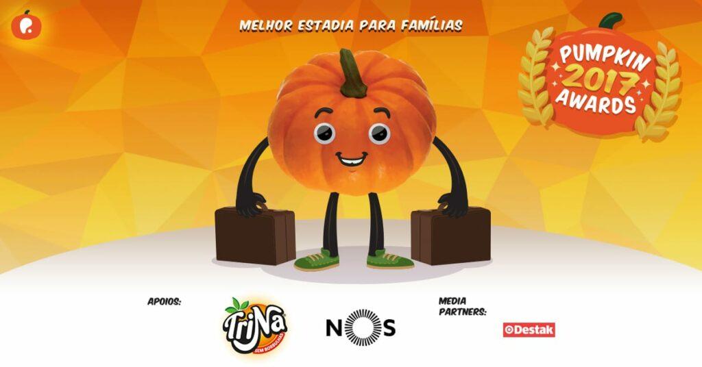 Vote na melhor estadia - hotel para famílias em Portugal nos Pumpkin Awards 2017