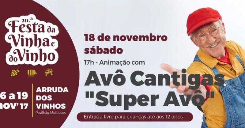 Avô Cantigas na 20.ª edição da Festa da Vinha e do Vinho.