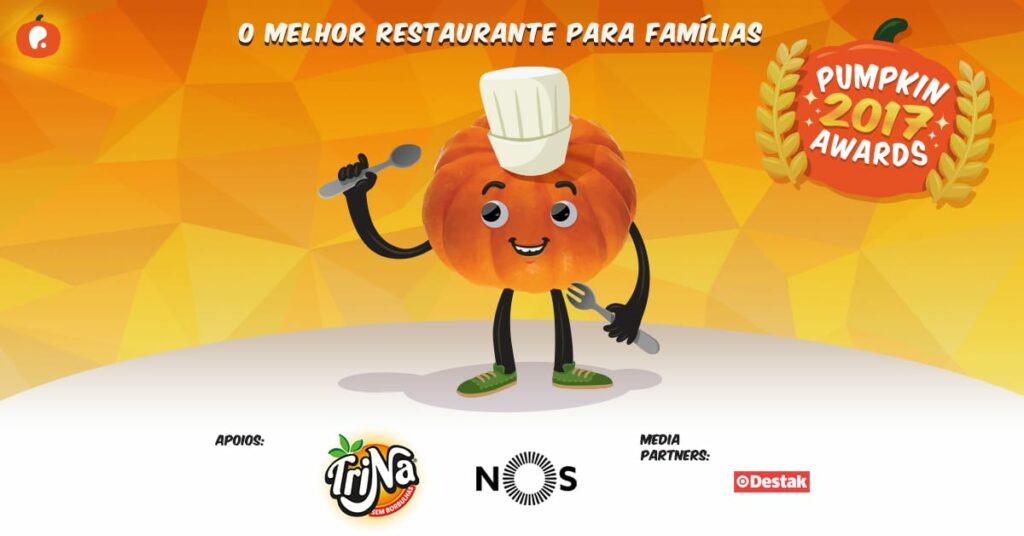 Vote no melhor restaurante para famílias nos Pumpkin Awards 2017