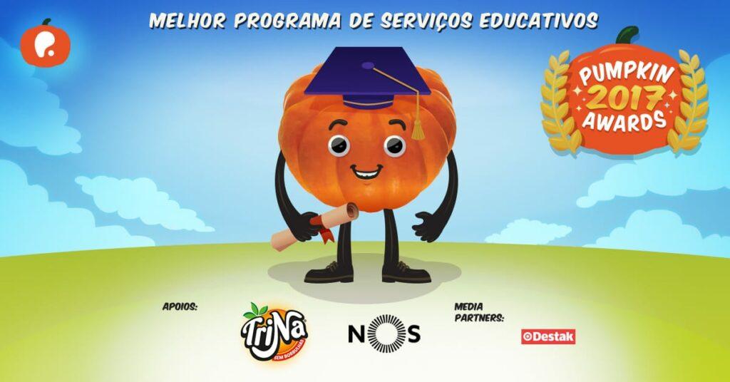 Vote melhor programa de serviços educativos para Escolas nos Pumpkin Awards 2017