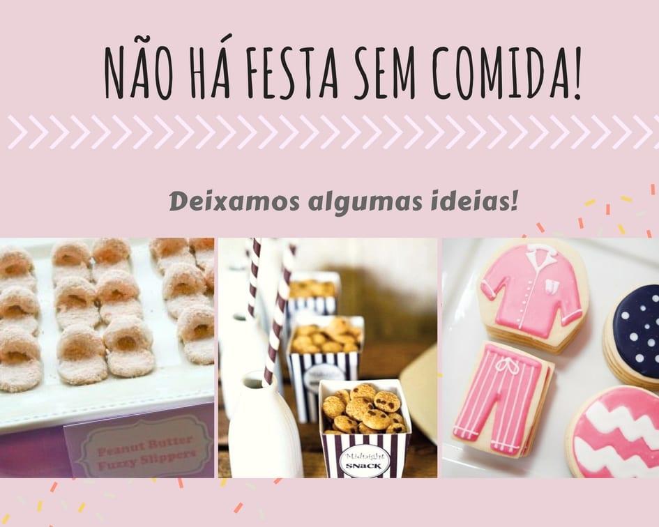 Comida Festa do Pijama