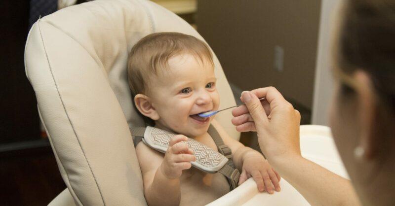 alimentação de um bebé de 8 meses