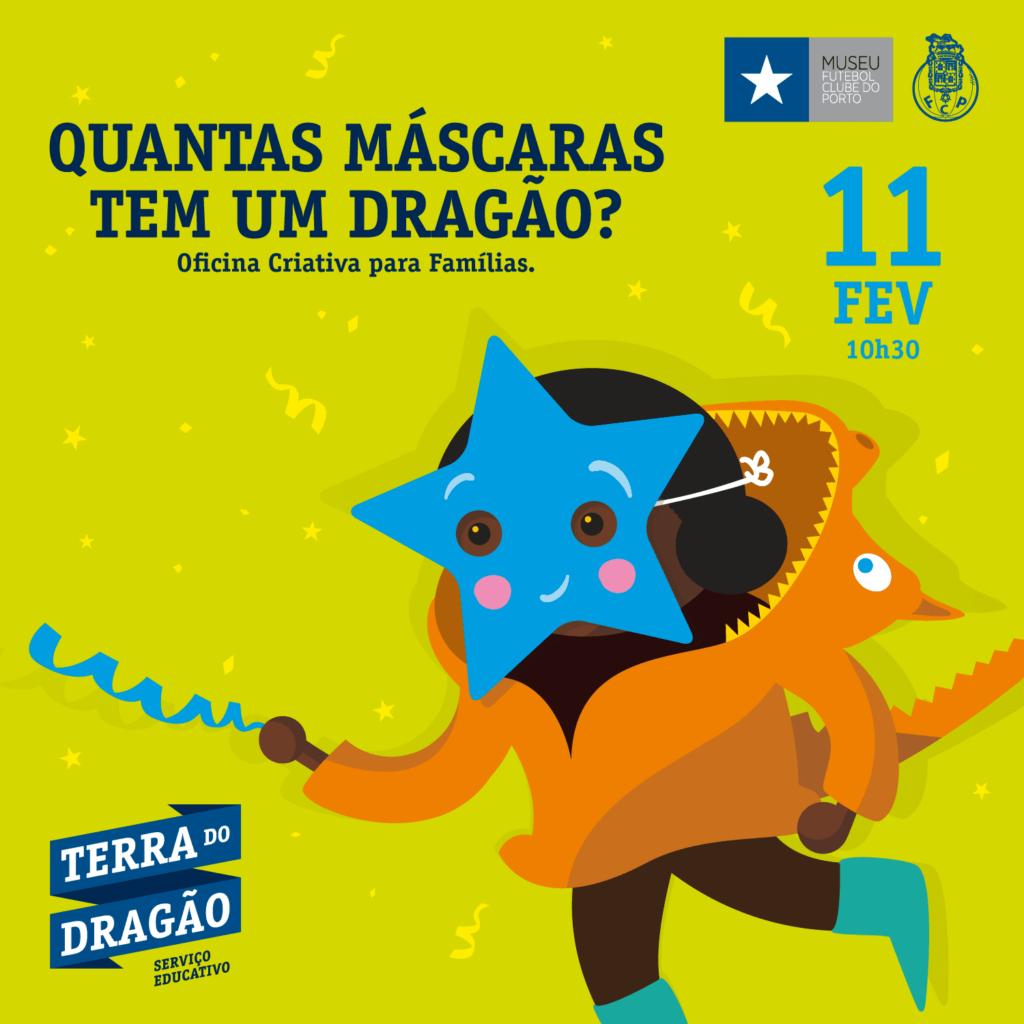 """""""Quantas Máscaras Tem Um Dragão?"""" – Oficina Criativa (p/Famílias)"""
