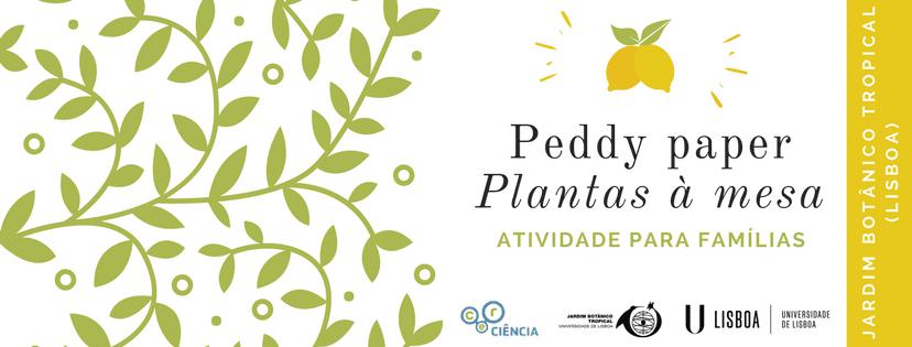 """Peddy paper """"Plantas à mesa"""""""