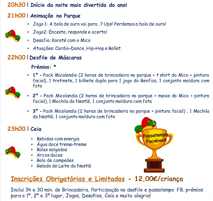 Festa Carnaval Micolandia programa
