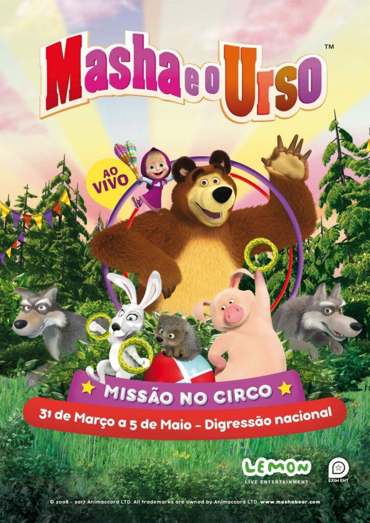 Masha e o Urso Missão no Circo Evento Cartaz
