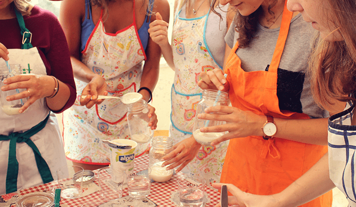 Workshop de culinária – Lanches saudáveis, famílias felizes