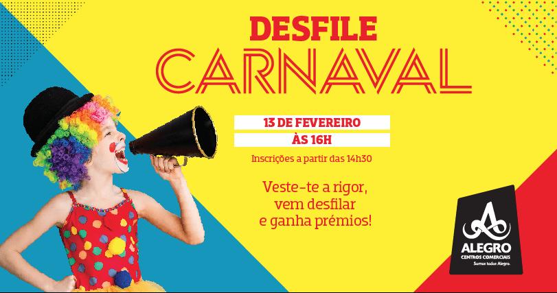 Carnaval nos Centros Comerciais Alegro