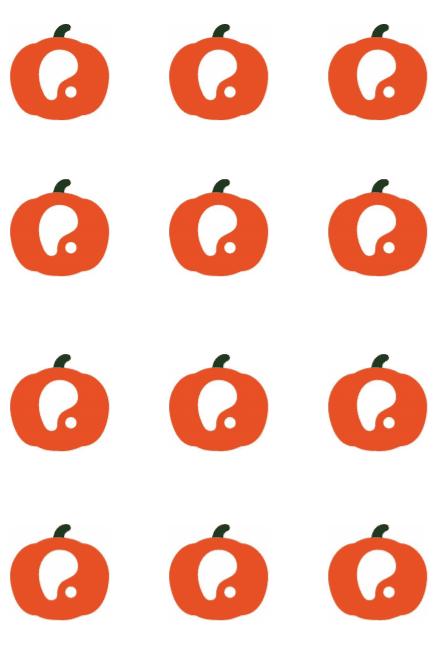 jogo da memória em inglês - logo da pumpkin