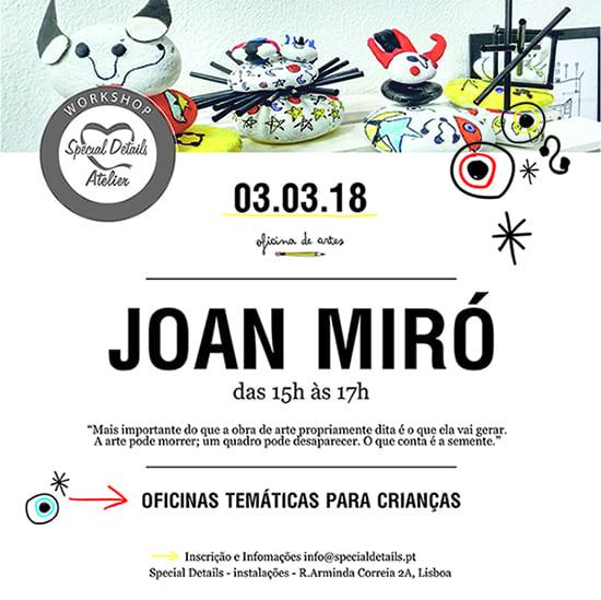 Joan Miró – Oficina Criativa para Crianças