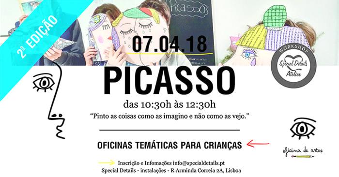 Pablo Picasso – Oficina Criativa para Crianças – 2ªEdição
