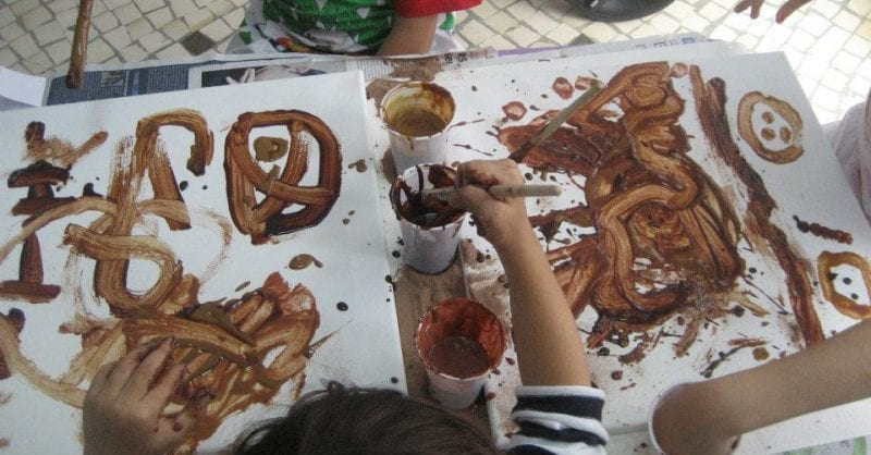 Pinturas com Chocolate na Sorrisos e Descobertas