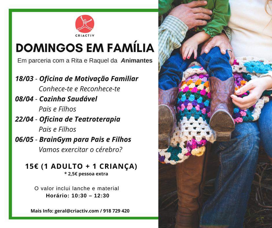 MANHÃS DE DOMINGO EM FAMÍLIA
