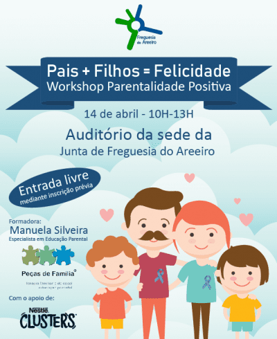 Workshop gratuito de Parentalidade Positiva