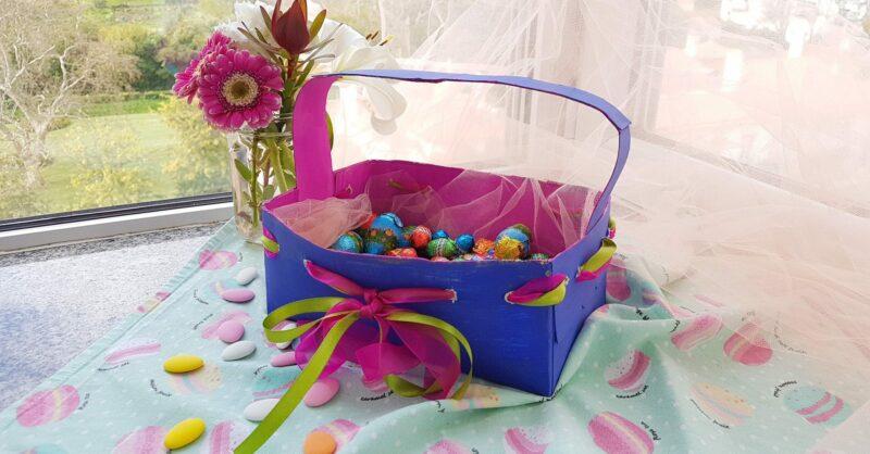 Enfeites de Páscoa – como fazer um cesto para os ovos