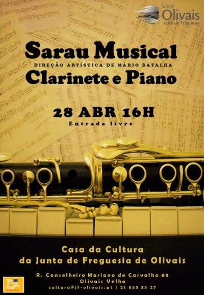 Sarau Musical de Clarinete e Piano