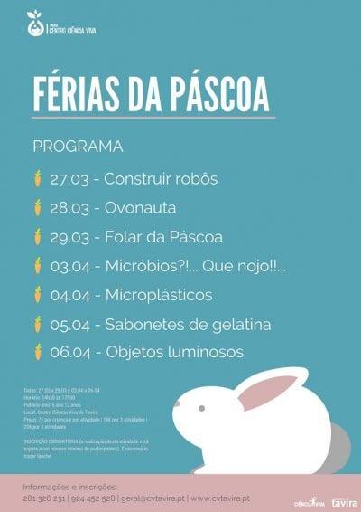 férias da Páscoa o Centro Ciência Viva de Tavira