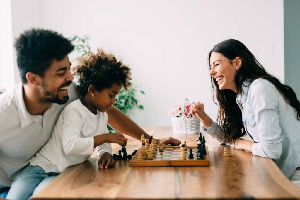 famílias fortes passar tempo