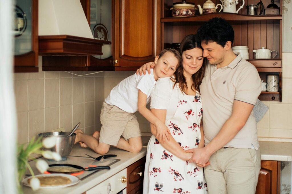 famílias mostram amor