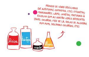 frascos pote das emoções