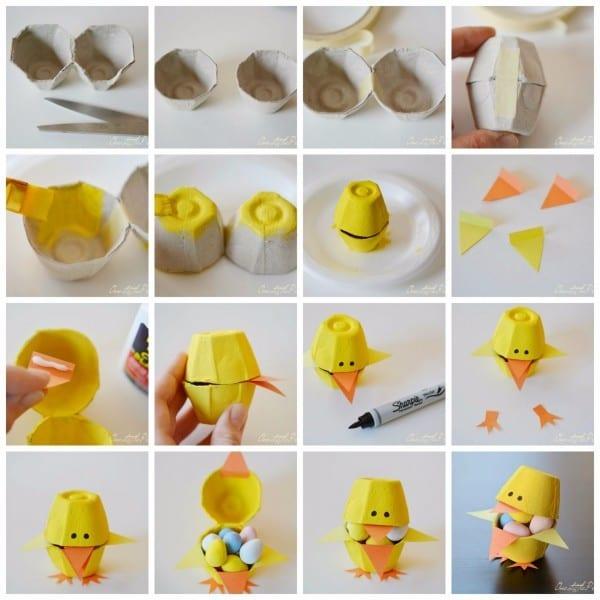 pintinhos caixa de ovos