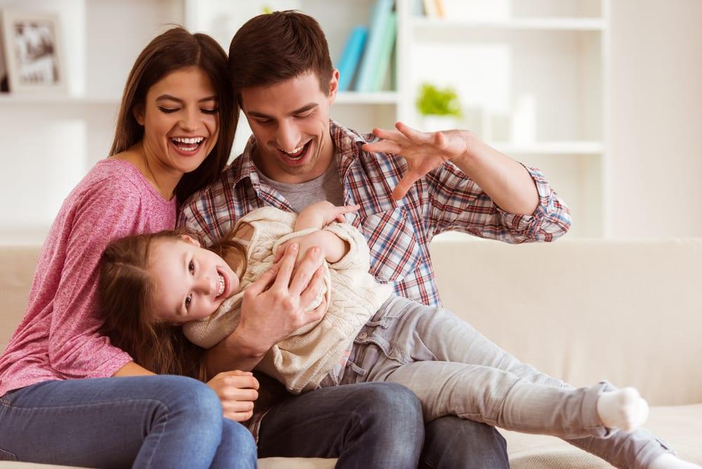 famílias felizes
